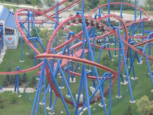 Superman Ultimate Flight (Six Flags Great America) pretzel loop.jpg