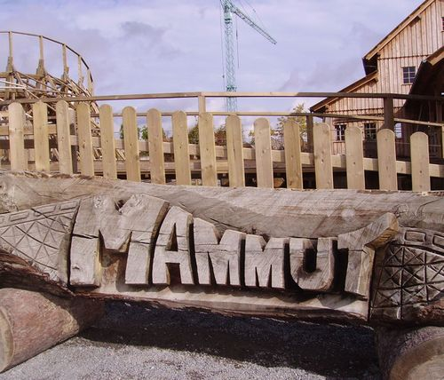 Mammut (Erlebnispark Tripsdrill) logo on bridge.jpg