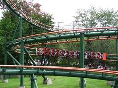 SkyRider (Canada's Wonderland) train in helix.jpg