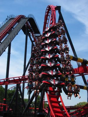 X-Flight (Six Flags Great America) train.jpg