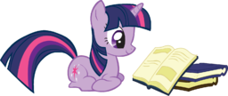 FANMADE Twilight Sparkle reading a book.png