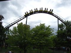 SkyRider (Canada's Wonderland) train entering helix.jpg