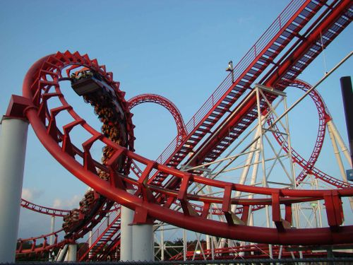 Great American Scream Machine (Six Flags Great Adventure) corkscrew.jpg