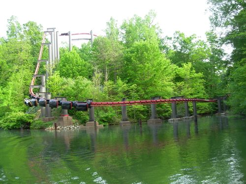 Big Bad Wolf final drop and track (train at bottom).jpg