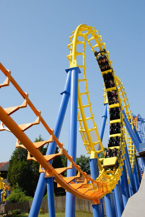 Carolina Cyclone (Carowinds) train in loop.jpg