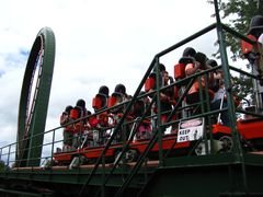 SkyRider (Canada's Wonderland) train on brakes.jpg