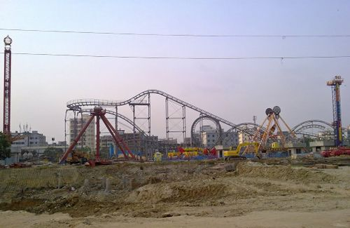 Roller Coaster (Jamuna Future Park) under construction 1.jpg